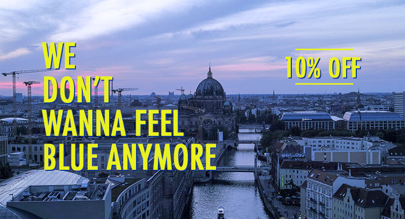 Plan a city trip and travel to in March to Berlin. You will save 10% on the daily rate. Book now!